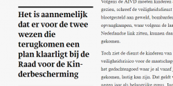 T. Mooren in Trouw over teruggehaalde IS-kinderen